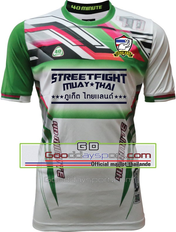 Maillot thailande StreetFight 40Minute 2016 Blanc