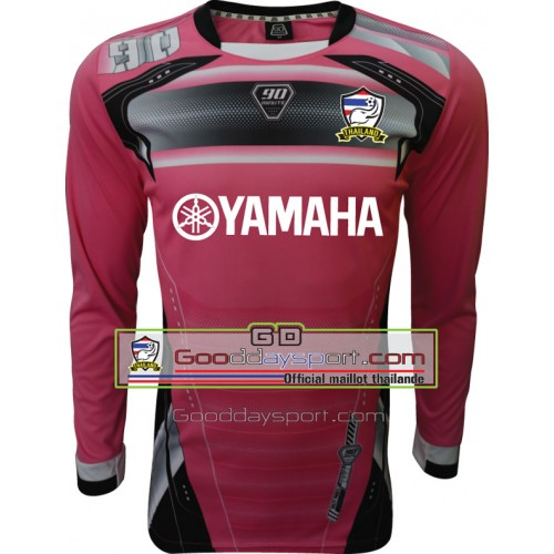Maillot thailande Yamaha 90Minute MM5 Long-sleeve 2016 Rose