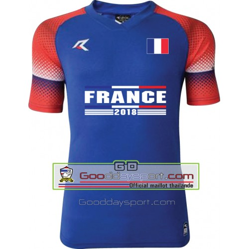 Maillots thailande France world cup 2018 Real 006 ฺBlue