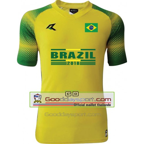 Maillots thailande Brazil world cup 2018 Real 006 Yellow